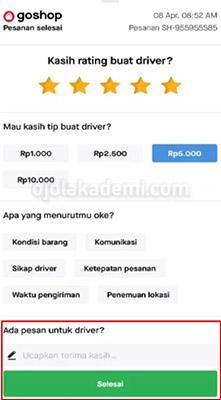 cara mengubah rating driver