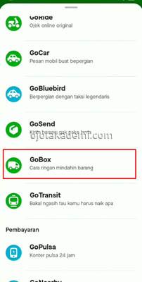 cara pesan go box untuk pindahan