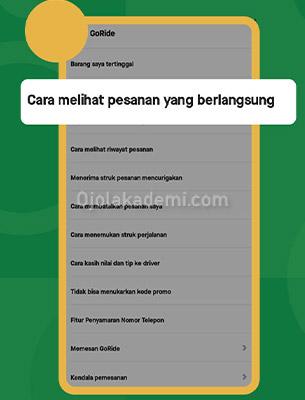 cara report akun gopay