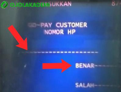 cara top up gopay bank mandiri