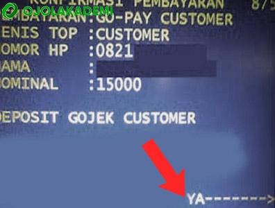 nominal Mengisi Gopay Lewat ATM Mandiri