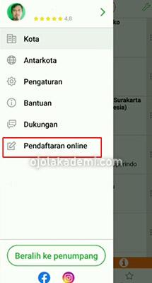 pendaftaran online indriver