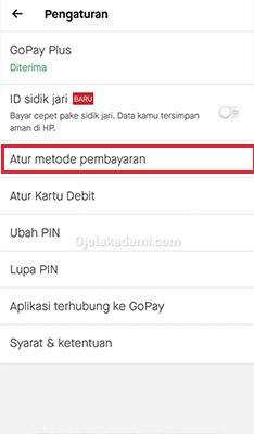 setting PayLater Gojek