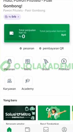 1 Buka Aplikasi GrabMerchant