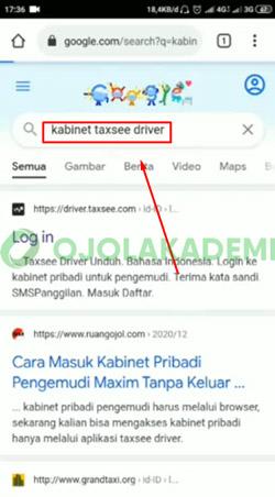 5 Ketik Kabinet Taxsee Driver
