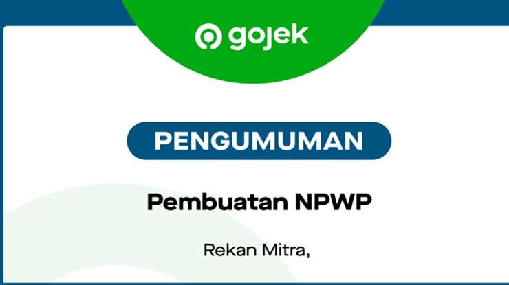 Mengisi Formulir NPWP Gojek
