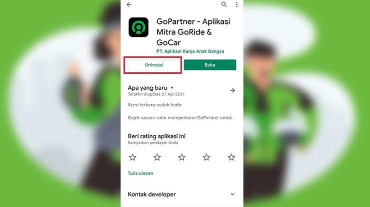 Pasang Ulang Aplikasi GoPartner