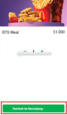 Pesan BTS Meal Grab