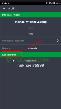 4 Tap Kode Referal