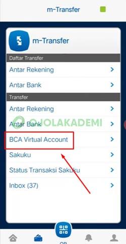 9 Pilih BCA Virtual Account