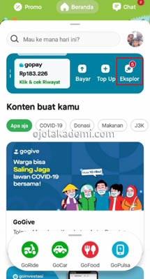 1 Buka Aplikasi Gojek 2