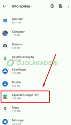 4 Pilih Layanan Google Play