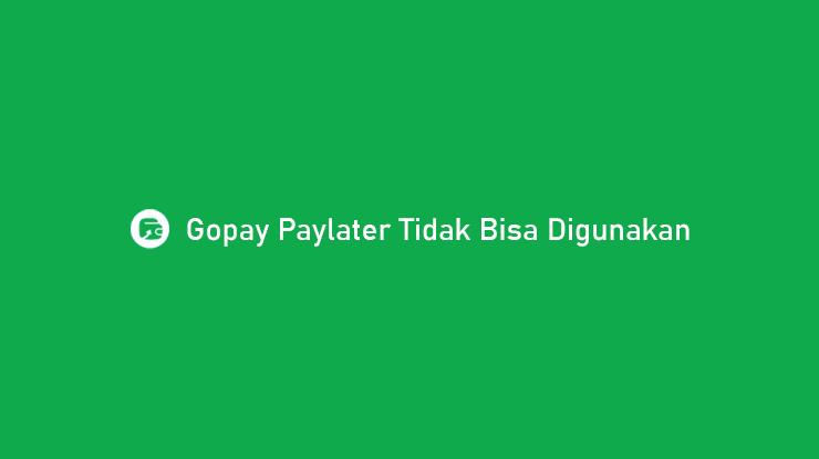 Gopay Paylater Tidak Bisa Digunakan Begini Cara Mengatasi